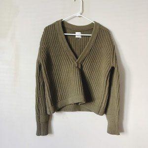 H&M studio A/W 2014 chunky hunter green sweater